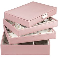Buy Stackers Jewellery Boxes, Pink/Floral online at JohnLewis.com - John Lewis