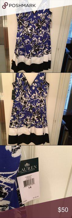 NWT Ralph Lauren V Neck and V Back Pleated Dress NWT Ralph Lauren V Neck and V Back Pleated Dress Ralph Lauren Dresses