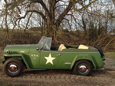 1949 Willys Jeepster - Photo submitted by Pam Barrett. Willys Wagon, Jeep Willys, Vintage Jeep, Vintage Cars, Jeep Truck, Jeep Jeep, Jeepster Commando, Military Jeep, Jeep Camping