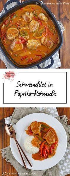 Schweinefilet in Paprika-Rahmsoße | Rezept | Kochen | Weight Watchers
