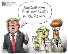 A roundup of funny and provocative cartoons about Donald Trump and his presidential campaign.: Medical Recods