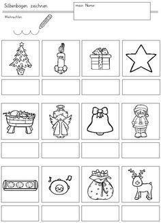 arbeitsblatt weihnachten und adventszeit sprachen lernen kindergarten portfolio. Black Bedroom Furniture Sets. Home Design Ideas