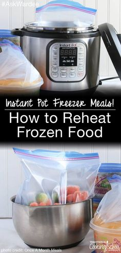 You know how to use your Instant Pot to reheat leftovers, but what about frozen foods? How can you take advantage of freezer cooking in your Instant Pot? Watch, listen, or read to learn how to reheat frozen food in the Instant Pot! [by Wardee Harmon]