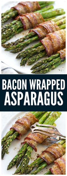 Bacon Wrapped Asparagus is a smoky and savory side dish that will be a staple for mealtime. Learn the critical technique to ensure that the bacon is crisp as it cooks with the asparagus spears. Maple syrup is added to each bundle for a caramelized, sweet and sticky glaze.