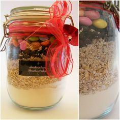 Backmischung für Cookies im Glas Rezept DIY und Backen, Cookies in a jar