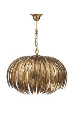 Gold Leaf Patterned Pendant