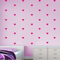 Hearts Pattern Wall Decal - Faux Wallpaper - Vivid Wall Decals. Would make a great  sc 1 st  Pinterest & Damask Pattern Wall Decal - Faux Wallpaper (12 elements). Love the ...