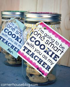 teacher gifts, gift jar, gift ideas, school teacher, cookie gifts, teacher appreciation gifts, one smart cookie, kid, back to school