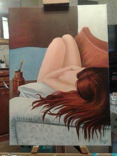 olio su tela 50x70 -Relax