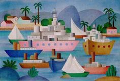 O Porto - Tarsila do Amaral