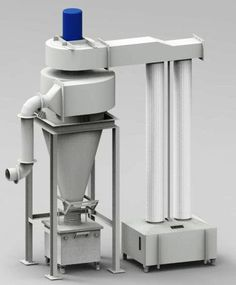 Dynavac® provided a cyclone dust collector with a filter unit. The cyclone dust collector is fitted with a 7.5 hp blower. The dust collection system is connected to a dust capturing hood through a flexible hose.