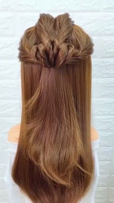 Sweetie fashion girls, we have geared up 15 quick and easy hairstyles for any occasion. Dear girls, the main advantage of long hair is that you can readily make you Cute Hairstyles, Braided Hairstyles, Hairstyle Ideas, Wedding Hairstyles, Hair Videos, Hair Hacks, Hair Inspiration, Curly Hair Styles, Hair Makeup