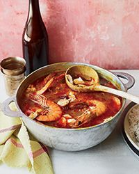 Inspired by his time in Senegal, chef Sean Brock created this delicious, untraditional gumbo using dende (palm) oil, dried shrimp and fish sauce.