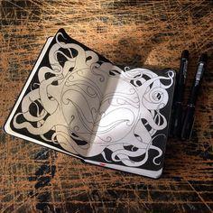 See this Instagram photo by @uberelf #moleskine #sketchbook #drawing #unipen #sun #sketching #notebook #creative #doodle #doodling #mysketch #blackandwhite #workinprogress #ink