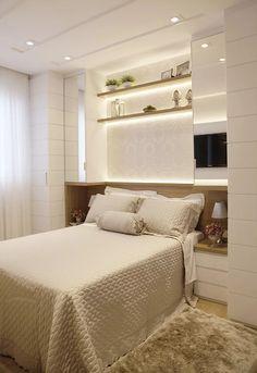 Trendy Ideas For Closet Pequeno Quartos Interior Design Bedroom Closet Design, Bedroom Wardrobe, Small Room Bedroom, Dream Bedroom, Home Bedroom, Modern Bedroom, Master Bedroom, Bedroom Decor, Interior Design