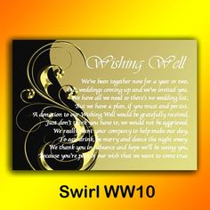 Wishing Well Poems Wedding Invitations | ... Wishing Well Money Request Poem Gift Cards FOR Wedding Invitations