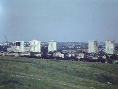 widok z Globusa w stronę ul. Nadbystrzyckiej, lata 70. XX w. źródło; Jerzy Turżański
