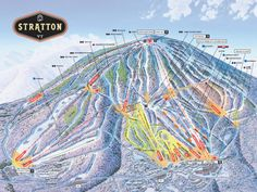 Explore the mountain at Stratton Resort in southern Vermont. View live mountain cams, snow and weather reports, trials, maps and Ski Mountain, Mountain Trails, Green Mountain, Vermont Skiing, Stratton Mountain, Grand Canyon Camping, Travel Camper, Snow Bunnies, Bunny