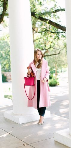 that pink coat!