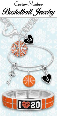 Personalize our jewelry with your favorite player's jersey number! - $9.98! // great gift ideas for end of season, moms, coaches, and more!!