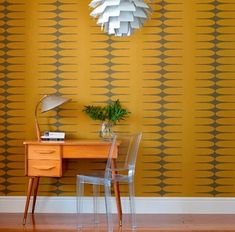 Oh look, color! I may be converted yet. Grace Bonney posted about the lovely Vintage by Hemingway wallpaper colorways that reflect a vintage modern aesthetic. As I am about to move into a 1950s bungalow, it's worth considering these ideas.