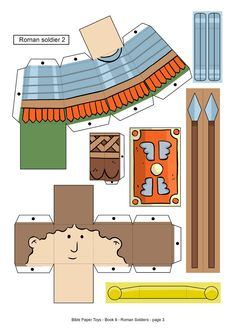 My Little House: Bible Paper Toys - Book 9 - Roman Soldiers Sunday School Kids, Sunday School Activities, Bible Activities, Sunday School Lessons, Sunday School Crafts, Bible Story Crafts, Bible Stories For Kids, Romans Bible, Family Worship Night