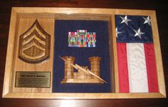 Us Army Shadow Box - Customizable & Unique! Handcrafted From Hardwoods