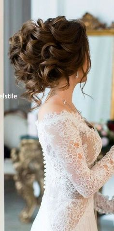 Wedding hairstyles 6 Simple Wedding Hairstyles, Wedding Updo, Short Wedding Hair, Simple Weddings, Lace Weddings, Wedding Dresses, Beautiful, Bridal Hair, Long Hair Styles