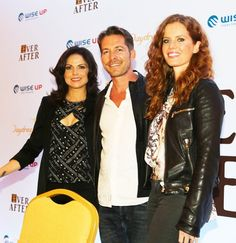 Lana Parrilla, Sean Maguire and Rebecca Mader. They don't have much of Robin Hood on the show.
