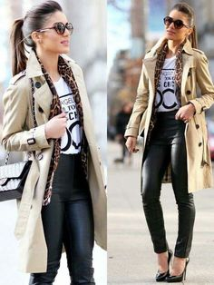 34 The Best Trench Coat Outfit Ideas For Spring And Summer - Consistently, planners make a huge amount of new trench coats to pitch to ladies. Every year, these styles change a tad so as to make them unique in r. Classy Outfits, Fall Outfits, Casual Outfits, Cute Outfits, Look Fashion, Winter Fashion, Fashion Outfits, Womens Fashion, Fashion Trends