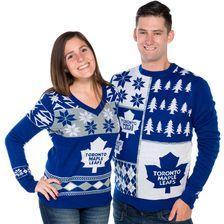 1cd4ad6c333 Toronto Maple Leafs Ugly Christmas Sweater NHL 2017 Big Logo Design