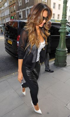 3/17/14 - Nicole Scherzinger out in London. Love her hair!