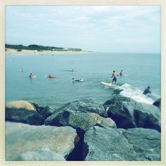 Surfers Surfing Cape Henlopen State Park Rehoboth Lewes Delaware Beach Atlantic Ocean IMG_9043