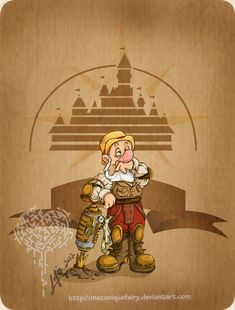steampunk disney | disneyanimanga:Disney steampunk: Sneezy by ~MecaniqueFairy