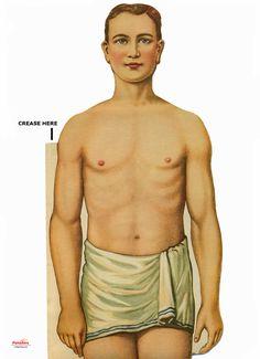 human body paper model