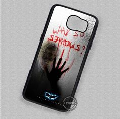 Behind The Glass Why So Serious Joker - Samsung Galaxy S7 S6 S5 Note 7 Cases & Covers