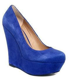 Steve Madden - Pammyy Blue Suede Wedges ($99) these are my next paie of shoes i love the royal bluecolor!!!