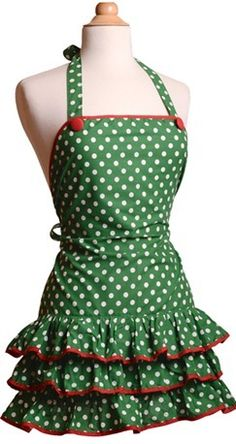 alexia dives posted retro hostess apron tutorial to their -knits and kits- postboard via the Juxtapost bookmarklet. Sewing Aprons, Sewing Clothes, Diy Clothes, Flirty Aprons, Cute Aprons, Retro Apron, Aprons Vintage, Recetas Para Navidad Ideas, Xmas Deco