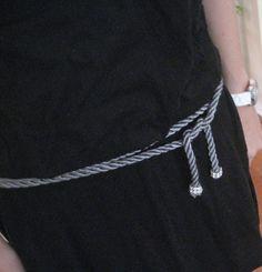 DIY embellished rope belt