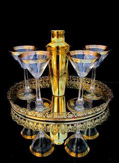 Vintage Hollywood Regency 24 kt. Gold Rim by ELECTRICmarigold