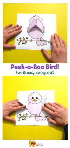 Spring Peekaboo Game - Bird