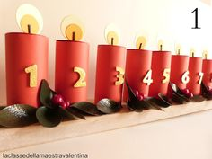 *With directions (translate)* - Countdown to Christmas advent calendar using recycled materials Advent Calenders, Diy Advent Calendar, Office Christmas Decorations, Halloween Decorations, Diy Calendario, Spider Crafts, Ramadan Crafts, 242, Theme Noel