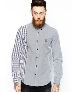 Love Moschino Shirt with Checked Panel