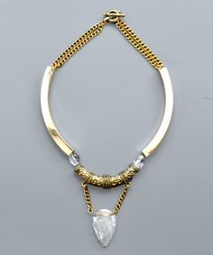 Gold Collar Necklace by Sunset & Rose