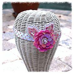 Pink Sequin Flower Swarovski Crystal Dancer by glamourpusscouture, $40.00