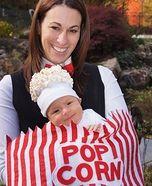 Homemade Baby Popcorn Costume