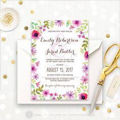 Autumn Wedding Invitation Printable Rustic Fall by AmeliyCom https://www.etsy.com/listing/476288713/autumn-wedding-invitation-printable