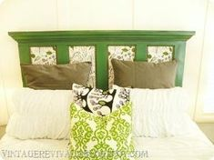 Head board made from an old door! by robbie