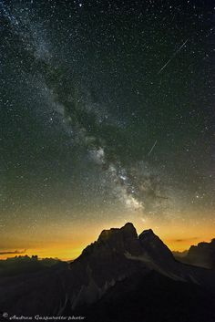 Pelmo and milky way by Andrea Gasparotto on 500px