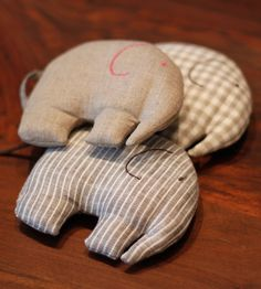 Image of Linen Elephant This would be an easy-ish pattern for teaching the girls how to use the sewing machine.